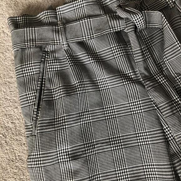 Zara Pants - Paper Bag Waist Plaid Pants